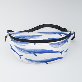 Watercolor whale pattern Fanny Pack