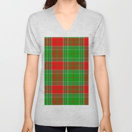 Christmas Lumberjack Plaid Unisex V-Neck