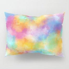 Watercolor Rainbow Abstract Art Pillow Sham