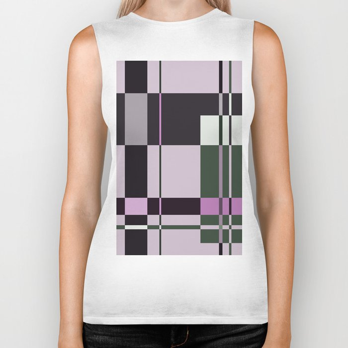 Interesting Geometry - Pale, pastel artwork Biker Tank