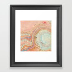 Multicolor Marble Framed Art Print