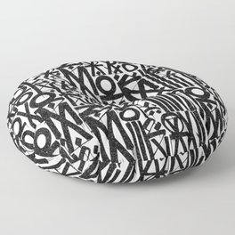TYPO--ART Floor Pillow
