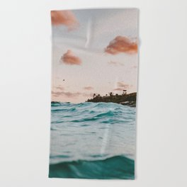summer sunset iv Beach Towel