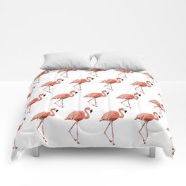 A Flamboyance of Flamingoes - Flamenco - 57 Montgomery Ave Comforters