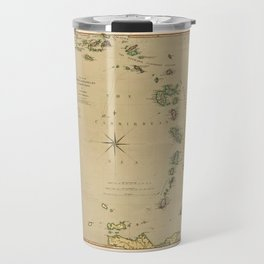Map of the Caribbee, Granadilles & Virgin Isles (1789) Travel Mug