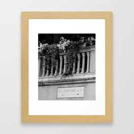 Venetian balcony Framed Art Print