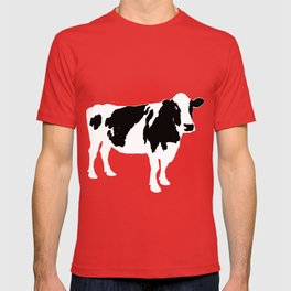 Cow on blue T-shirt