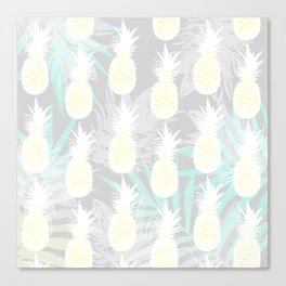Elegant Pineapple Tropical Beach Pattern Canvas Print
