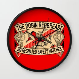 The Robin Redbreast Safety Matches Wall Clock