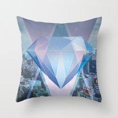 tokyo's Diamond Throw Pillow