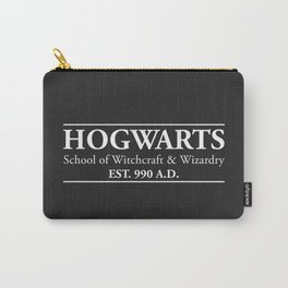 Hogwarts School of Witchcraft & Wizardry (Black) Carry-All Pouch