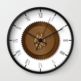 Chocolate Box Wallnut Wall Clock