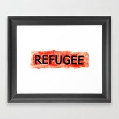 REFUGEE Framed Art Print