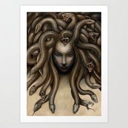 Dark Medusa Art Print