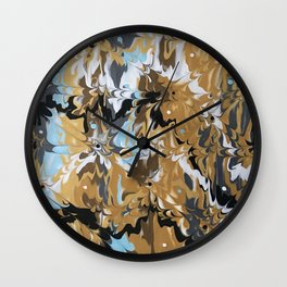 Abstract Music Gold Calypso pattern Wall Clock