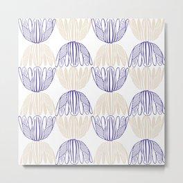 Abstract geometry lotos Metal Print