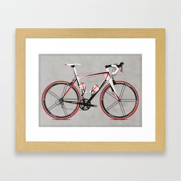 Race Bike Framed Art Print