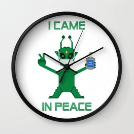 I Came In Peace - Alien Wall Clock