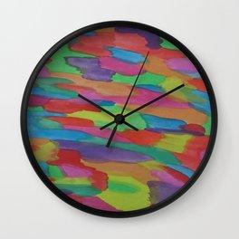Sugar Rush Candy Colored Abstract Wall Clock