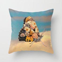 Butterlfy Motif Throw Pillow