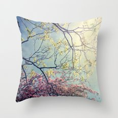 The Song of a Spring Sky Throw Pillow