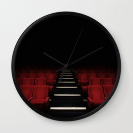 Red Theater Wall Clock