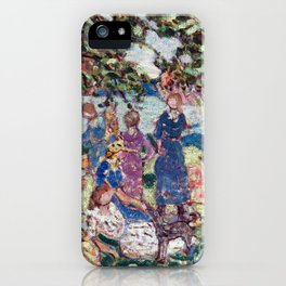Maurice Brazil Prendergast Picnic by the Inlet iPhone Case