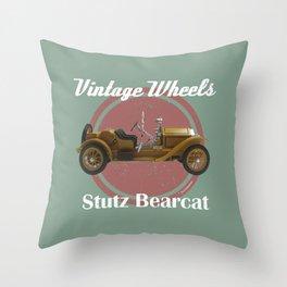 Vintage Wheels - Stutz Bearcat Throw Pillow