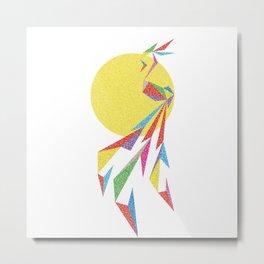Abstract Moon Bird Metal Print