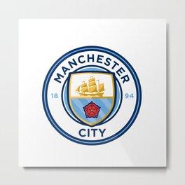 Manchester City Logo Metal Print