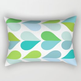 Love and kisses - green and blue Rectangular Pillow