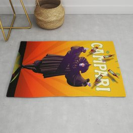 Vintage Cordial Bitter Campari 'Pagliacci' Advertisement Poster Rug