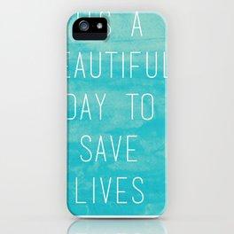 Grey's Anatomy McDreamy Quote iPhone Case