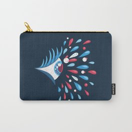 Dark Psychedelic Eye With Colorful Tears Carry-All Pouch