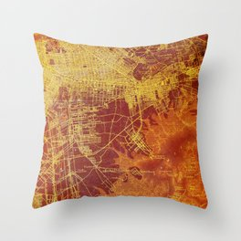 Old map of Brooklin year 1892 Throw Pillow