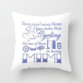 Cycling Mimi Throw Pillow