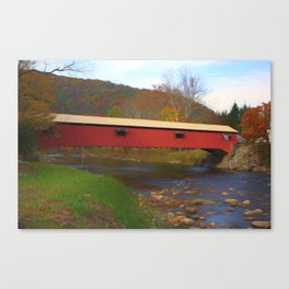 Forksville Covered Bridge Canvas Print