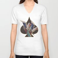 legs V-neck T-shirts featuring Legs by temporaryglitch