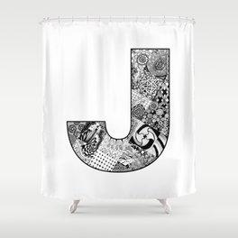 Cutout Letter J Shower Curtain
