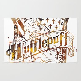 Hufflepuff Crest Rug