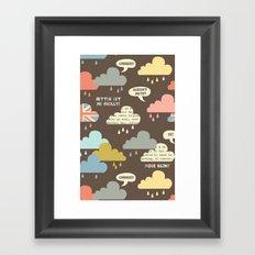 Rainy London Framed Art Print