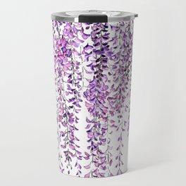 purple wisteria in bloom Travel Mug