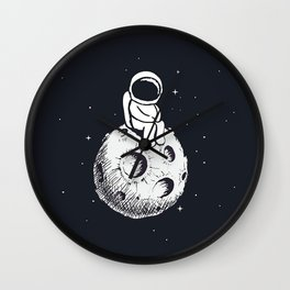 Sit Astronaut Wall Clock