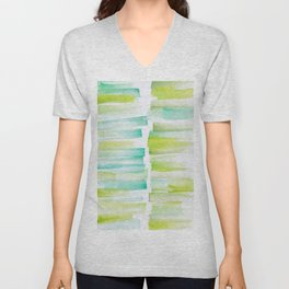 6 | 181101 Watercolour Palette Abstract Art | Lines | Stripes | Unisex V-Neck