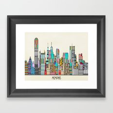 Memphis city Framed Art Print