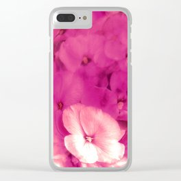 Blushing Wallflower Clear iPhone Case