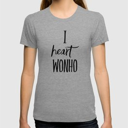 I Heart Wonho - Monsta X (Design 2) T-shirt