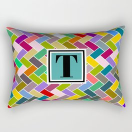 T Monogram Rectangular Pillow