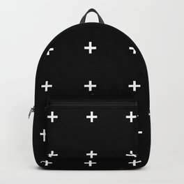 PLUS ((white on black)) Backpack