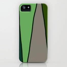 Green Abstract Pattern Turtle iPhone Case